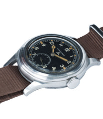 for sale vintage Longines W.W.W. Dirty Dozen British military MoD steel chronometer-graded watch for sale online at A Collected Man London vintage military watch specialist