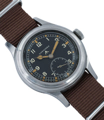 buy vintage Longines W.W.W. Dirty Dozen British military MoD steel chronometer-graded watch for sale online at A Collected Man London vintage military watch specialist