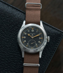 Dirty Dozen Longines Dirty Dozen British military MoD steel chronometer-graded watch for sale online at A Collected Man London vintage military watch specialist