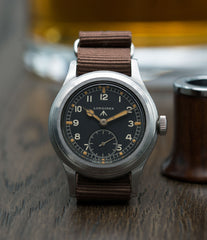 selling Longines W.W.W. Dirty Dozen British military MoD steel chronometer-graded watch for sale online at A Collected Man London vintage military watch specialist