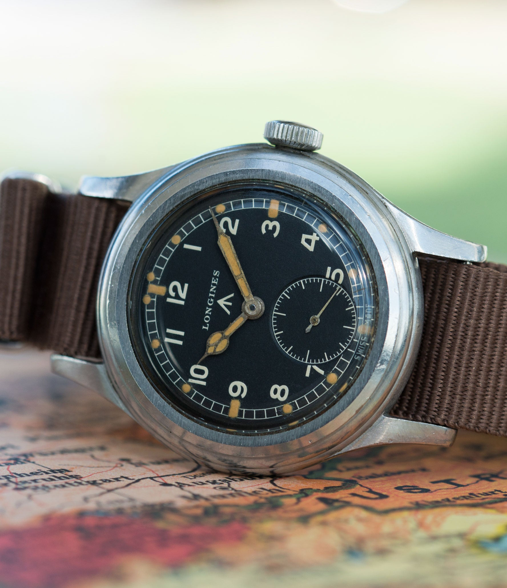 for sale Longines W.W.W. Dirty Dozen British military MoD steel chronometer-graded watch for sale online at A Collected Man London vintage military watch specialist