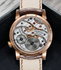 manual-winding MB&F Voutilainen Legacy Machine LM101 rose gold preowned luxury dress watch for sale online at a Collected Man London approved seller of independent watchmakers