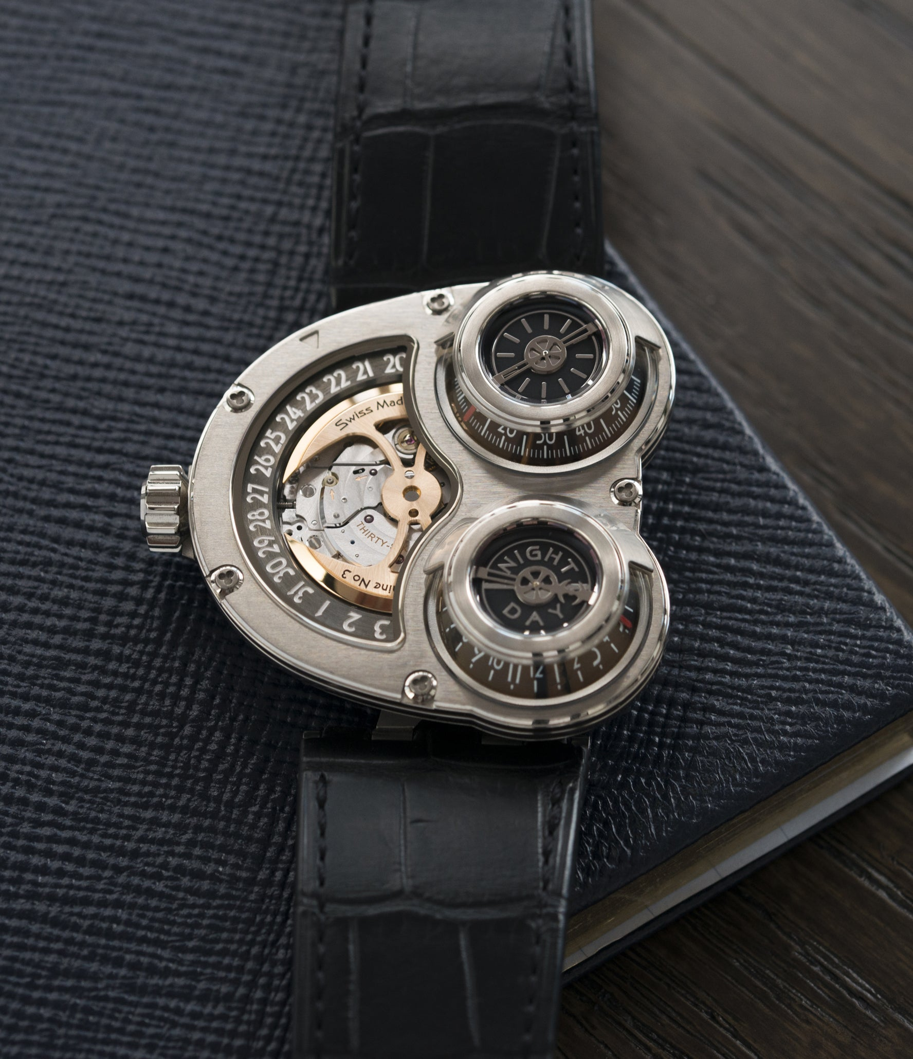 buying MB&F Sidewinder Horological Machine HM3 white gold watch by independent watchmaker Max Busser Wiederrecht for sale online at A Collected Man London UK specialist of rare watches