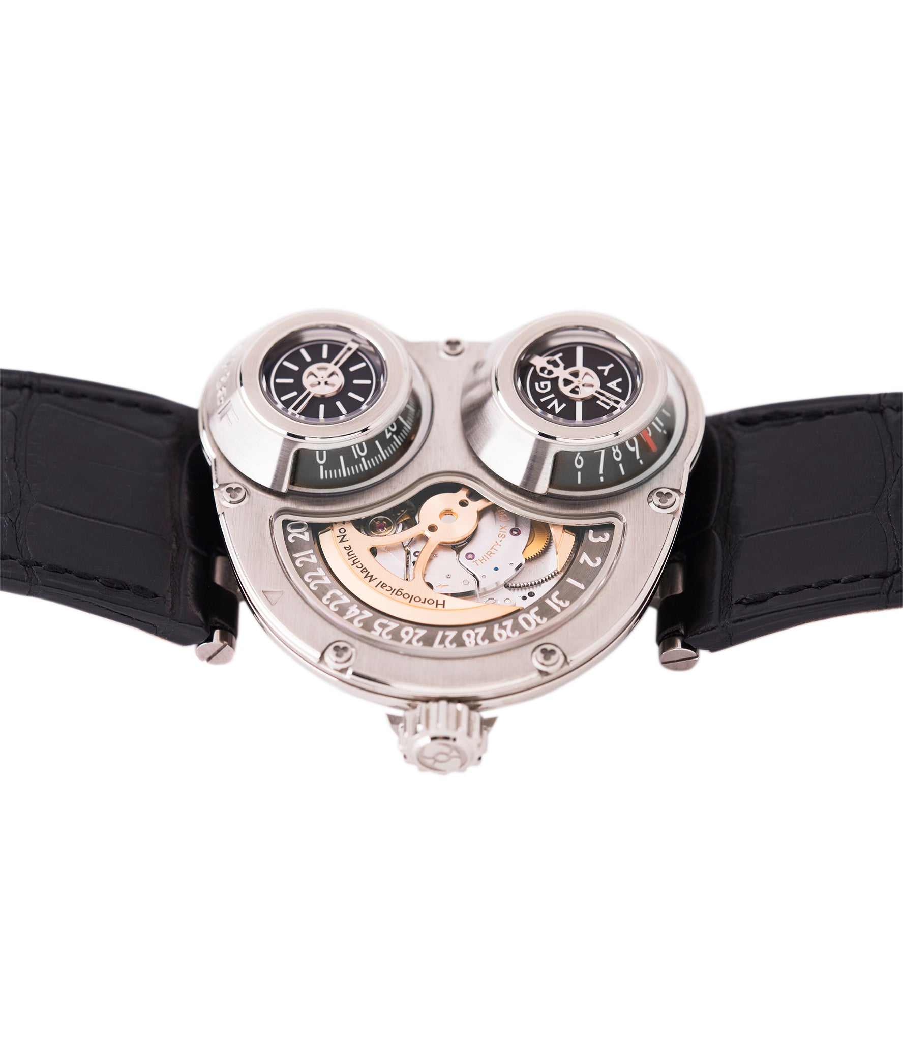 Max Busser Wiederrecht MB&F Sidewinder Horological Machine HM3 white gold watch by independent watchmaker for sale online at A Collected Man London UK specialist of rare watches