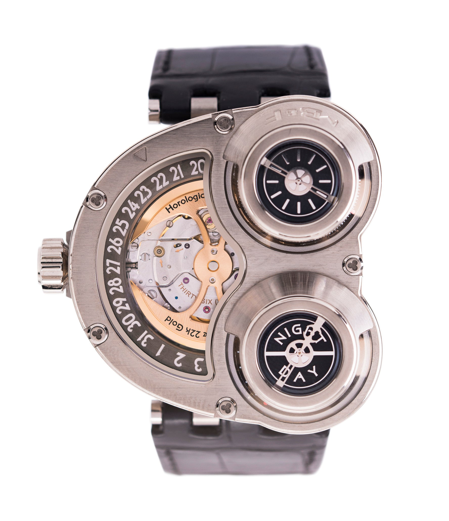 buy MB&F Sidewinder Horological Machine HM3 white gold watch by independent watchmaker Max Busser Wiederrecht for sale online at A Collected Man London UK specialist of rare watches