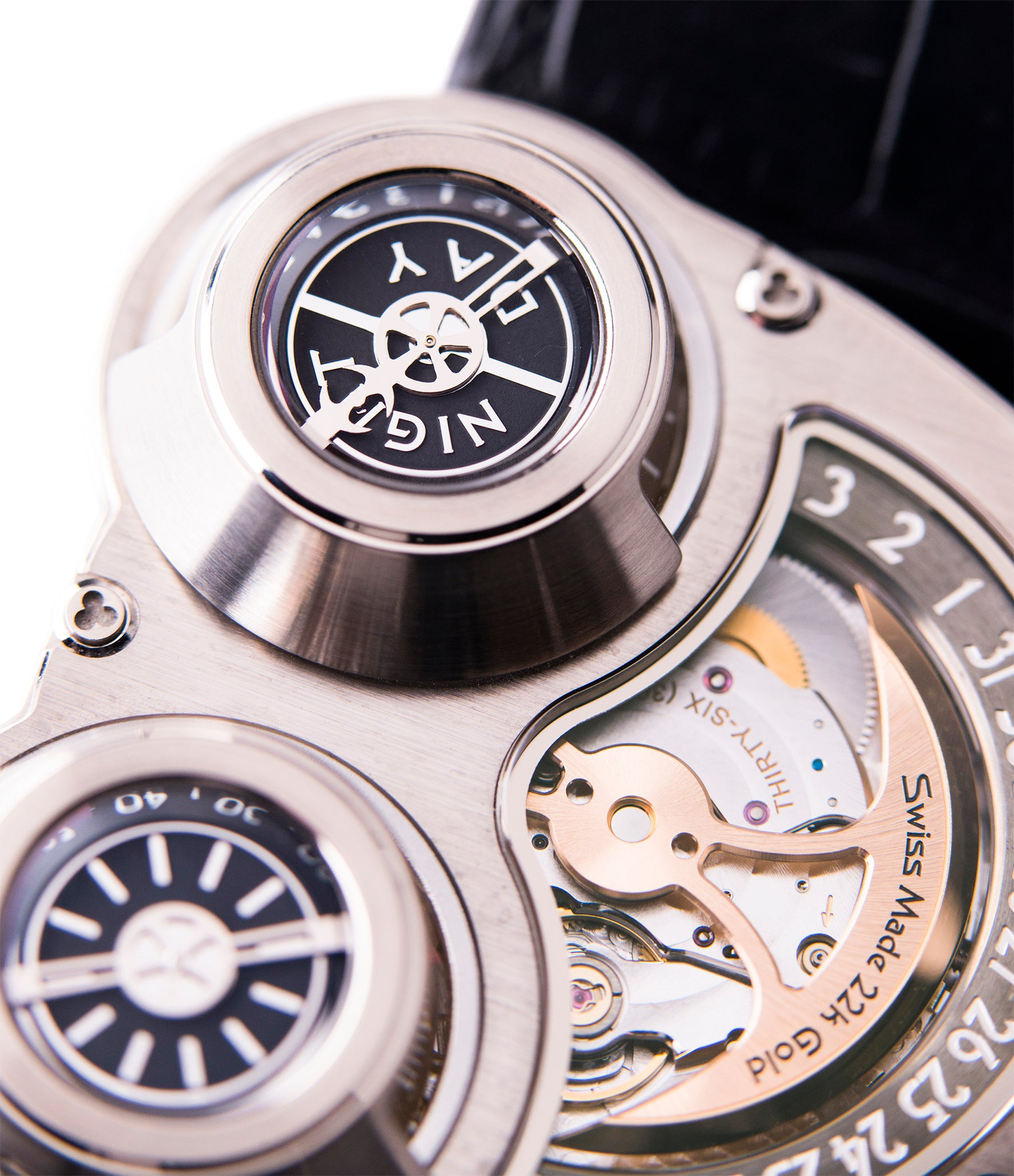 MB&F HM3 Horological Machine 3 Sidewinder Max Busser Wiederrecht white gold watch by independent watchmaker for sale online at A Collected Man London UK specialist of rare watches