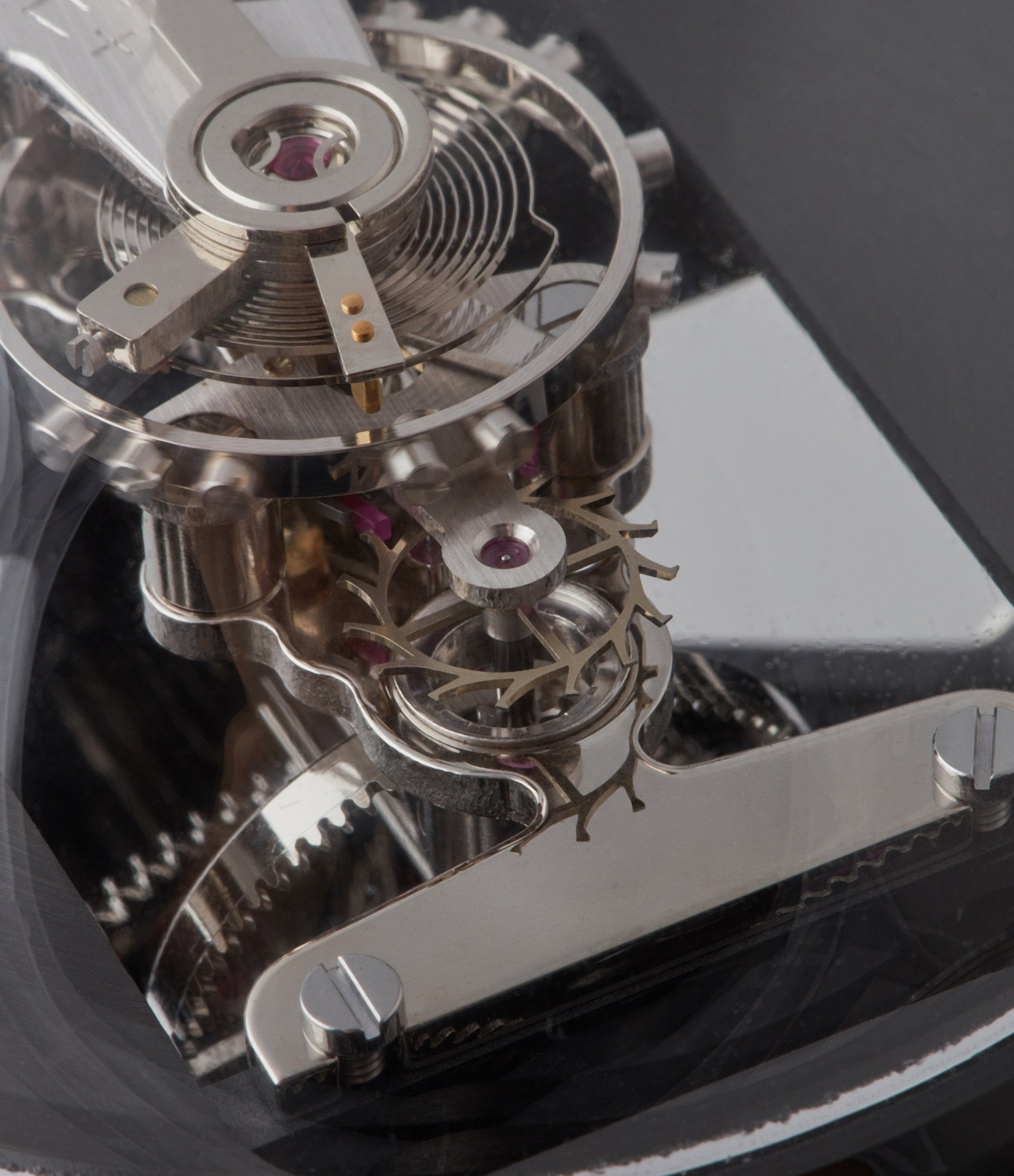 "MB&F Melchior L'Epee ""Dark"" roboclock robotic desk clock for sale online at A Collected Man London"