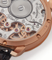 Voutilainen MB&F Legacy Machine LM2 rose gold double flying balance watch by independent watchmaker