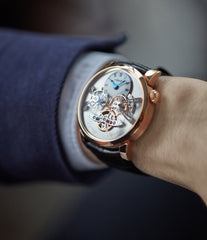 wristwatch MB&F Legacy Machine LM2 rose gold double flying balance by independent watchmaker