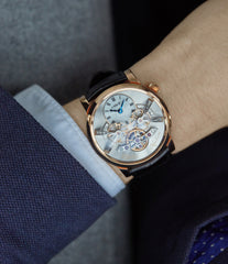 Legacy Machine LM2 MB&F rose gold double flying balance watch independent watchmaker for sale