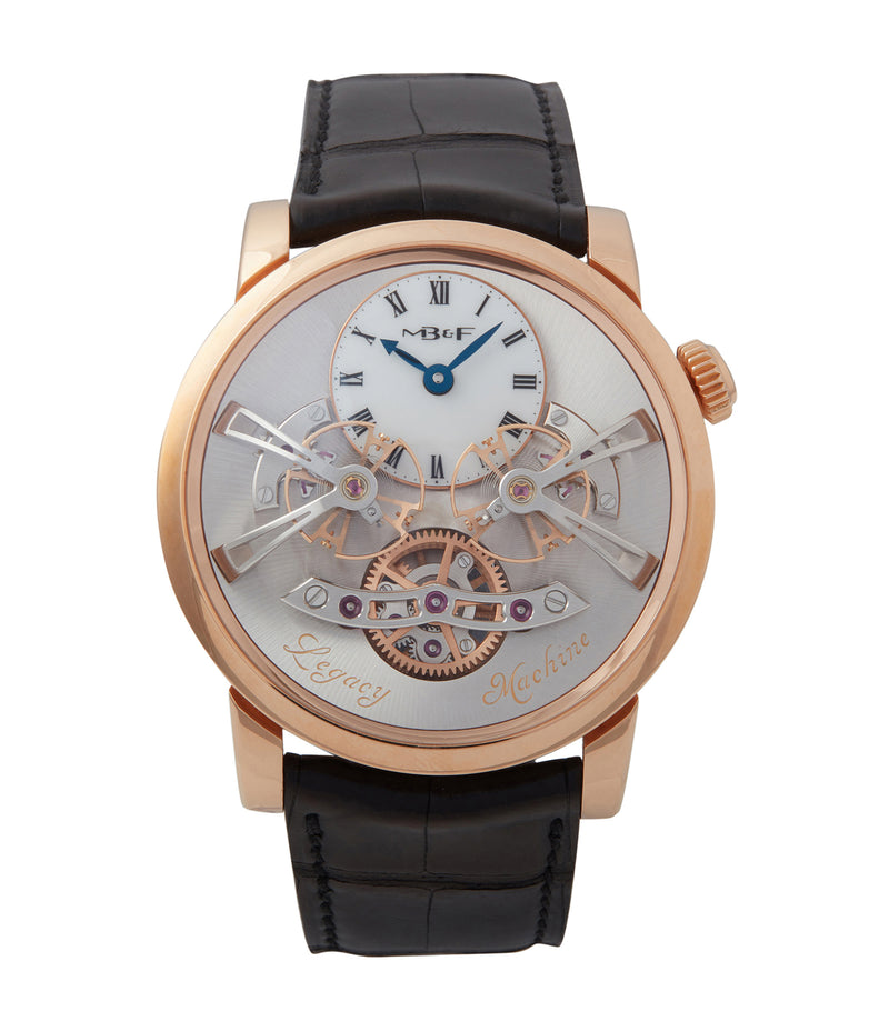 buy MB&F Legacy Machine LM2 rose gold double flying balance watch by independent watchmaker