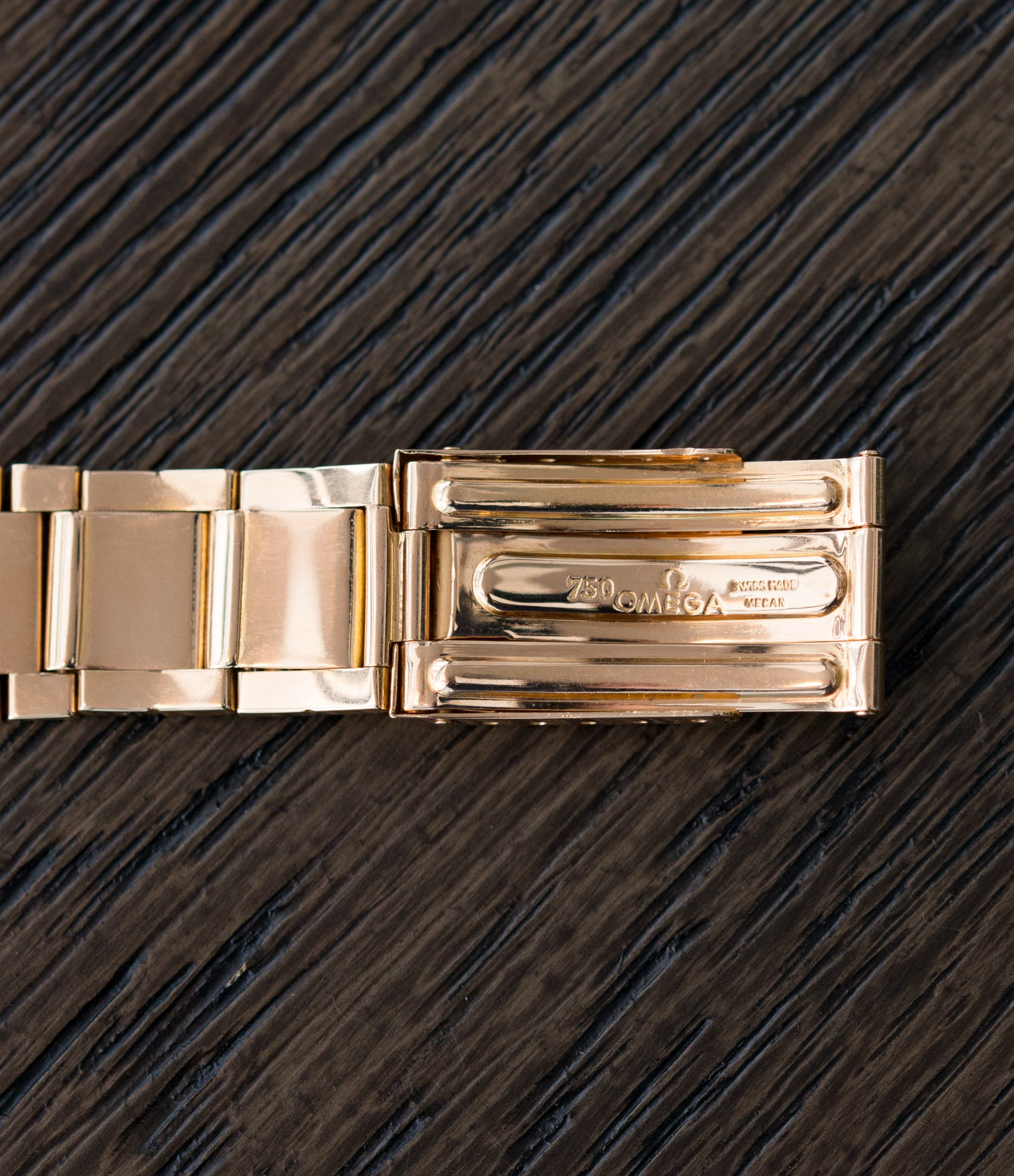 vintage Omega deployant clasp Constellation De Luxe 2799 yellow gold rare dress watch for sale online at A Collected Man London UK specialist of rare vintage watches