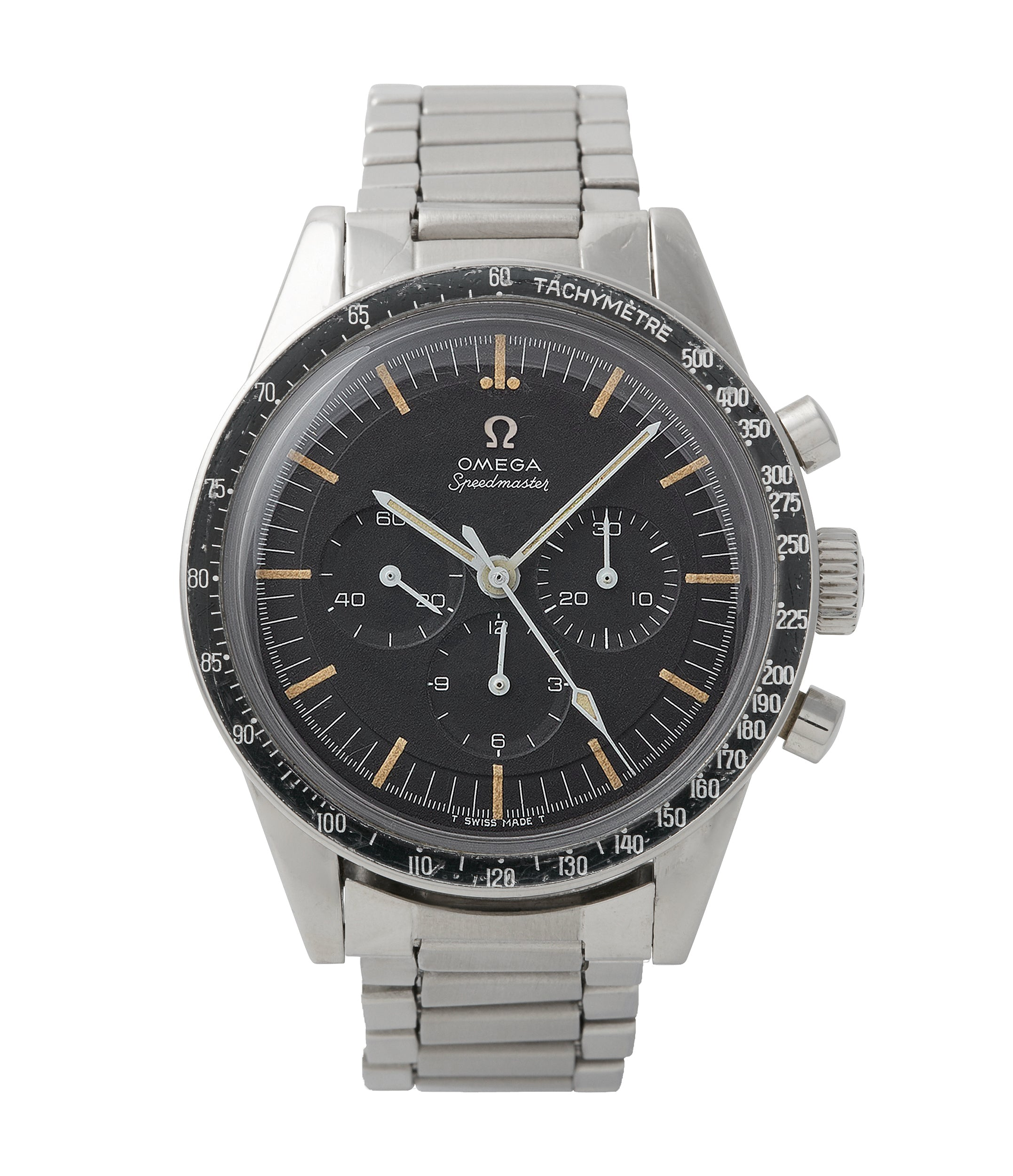buy vintage Omega Speedmaster pre-professional Ed White 105.003-65 steel chronograph sports watch online at A Collected Man London