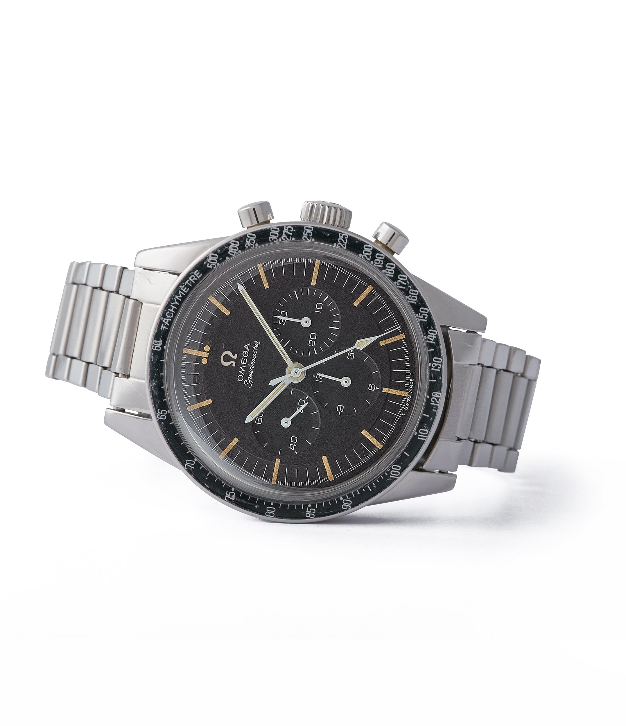 Omega vintage Speedmaster pre-professional Ed White 105.003-65 steel chronograph sports watch online at A Collected Man London