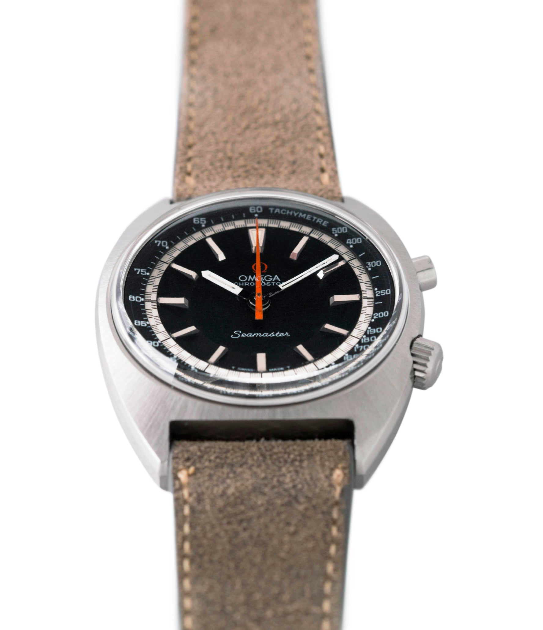 steel Omega Seamaster Chronostop 145.007 manual-winding Cal. 865 steel chronograph sport watch for sale online at A Collected Man London UK specialist of rare watches