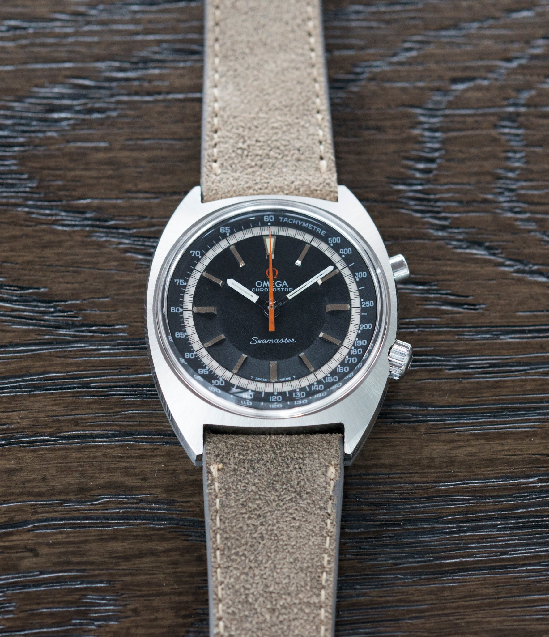 men's cool vintage sport watch chronograph Seamaster 145.007 Chronostop Omega manual-winding Cal. 865 steel chronograph sport watch for sale online at A Collected Man London UK specialist of rare watches