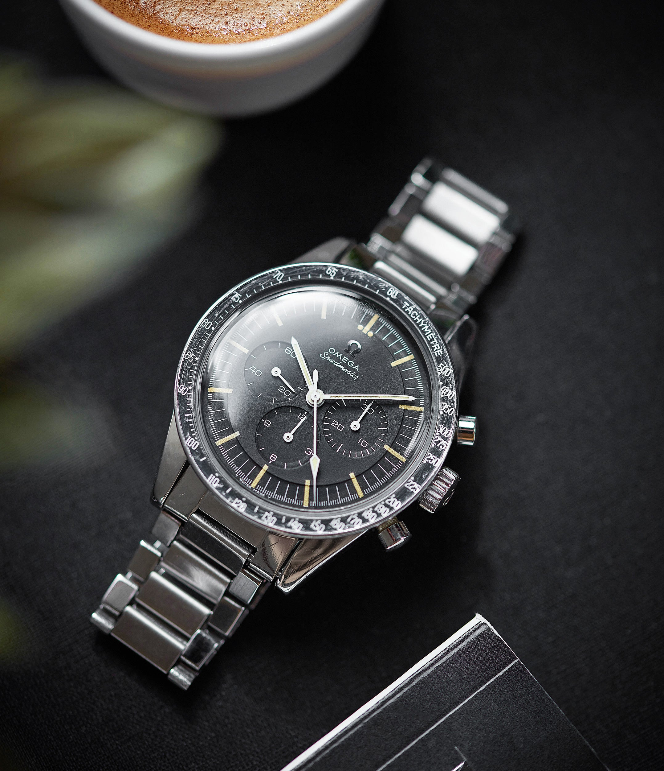Speedmaster pre-professional Ed White Omega 105.003-65 steel chronograph sports watch online at A Collected Man London