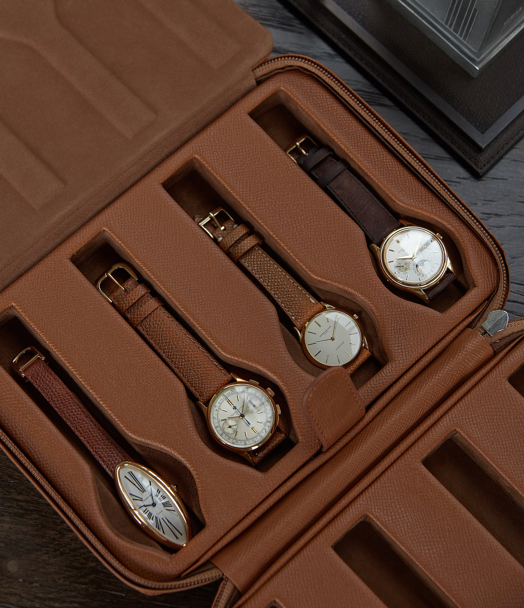 selling tan calfskin watch case holder accessories 8 watches order online A Collected Man London