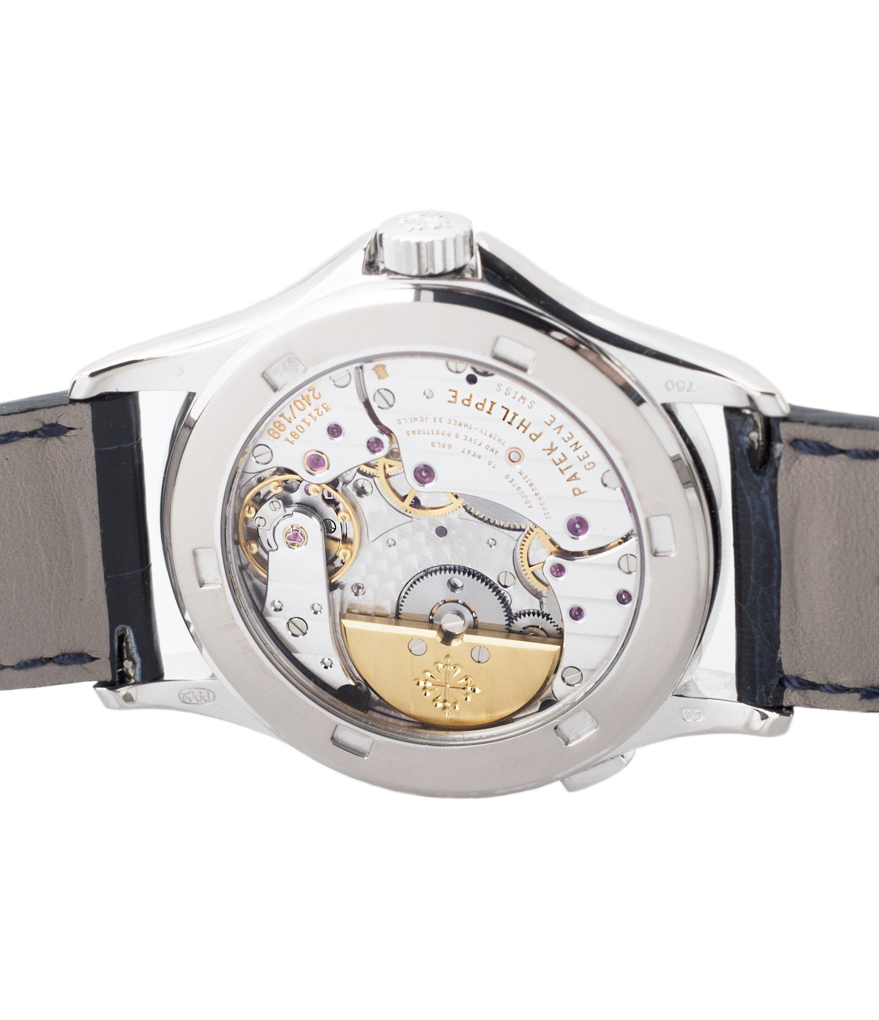 automatic 240HU Patek Philippe 5110G-001 white gold World-timer luxury dress watch online for sale at A Collected Man London specialist preowned luxury watches