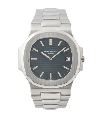 buy vintage Patek Philippe Nautilus 3700/001A steel sport watch full set for sale online at A Collected Man London UK specialist of rare vintage watches
