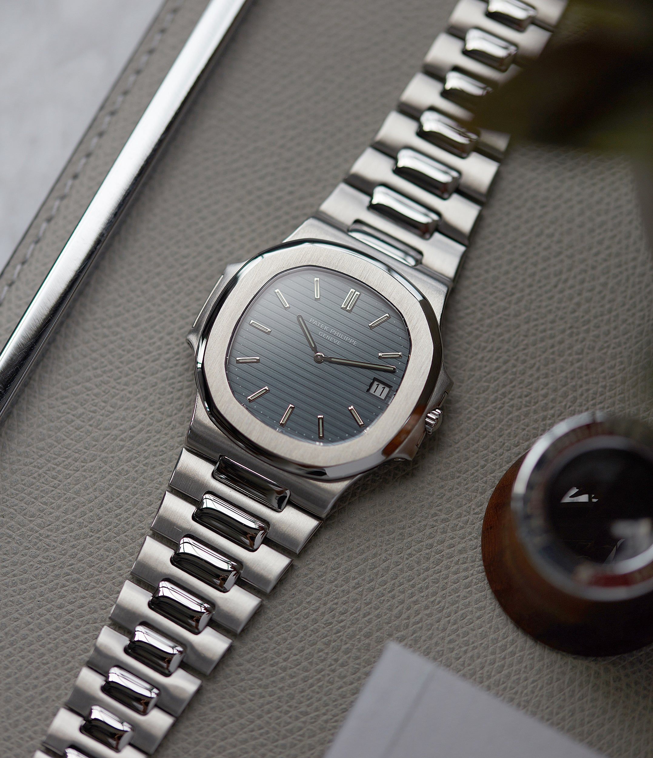 men's luxury sport steel watch vintage Patek Philippe Nautilus 3700/001A steel sport watch full set for sale online at A Collected Man London UK specialist of rare vintage watches
