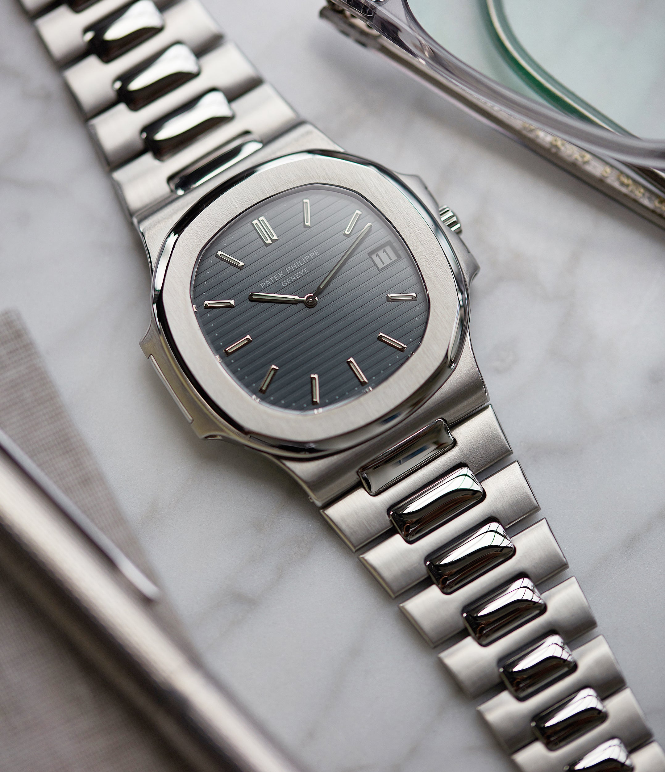 rare Patek Philippe Nautilus 3700/001A steel sport watch full set for sale online at A Collected Man London UK specialist of rare vintage watches