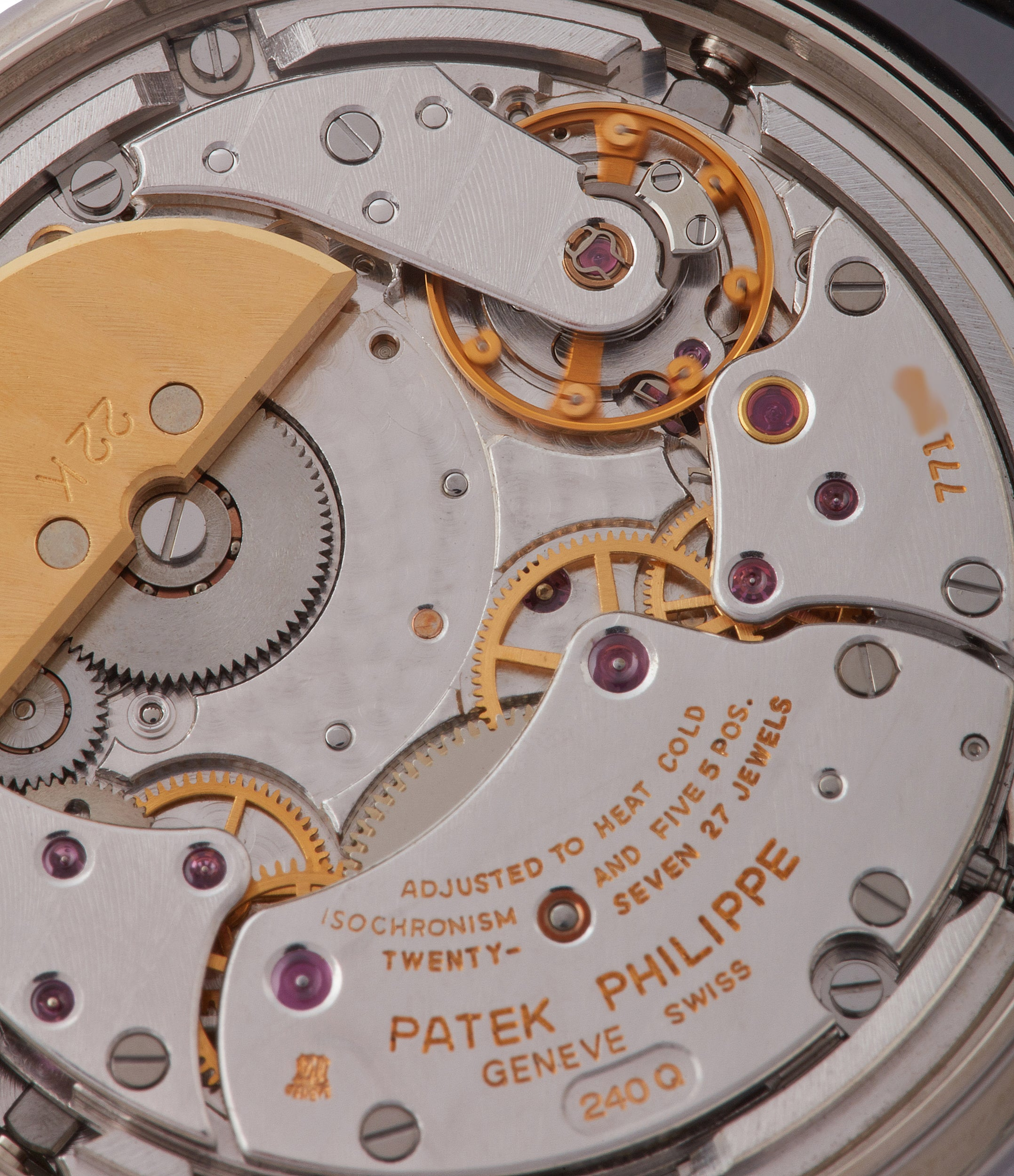 240Q movement Patek Philippe 3940G Perpetual Calendar vintage rare watch English dial for sale online at A Collected Man London UK specialist of rare watches