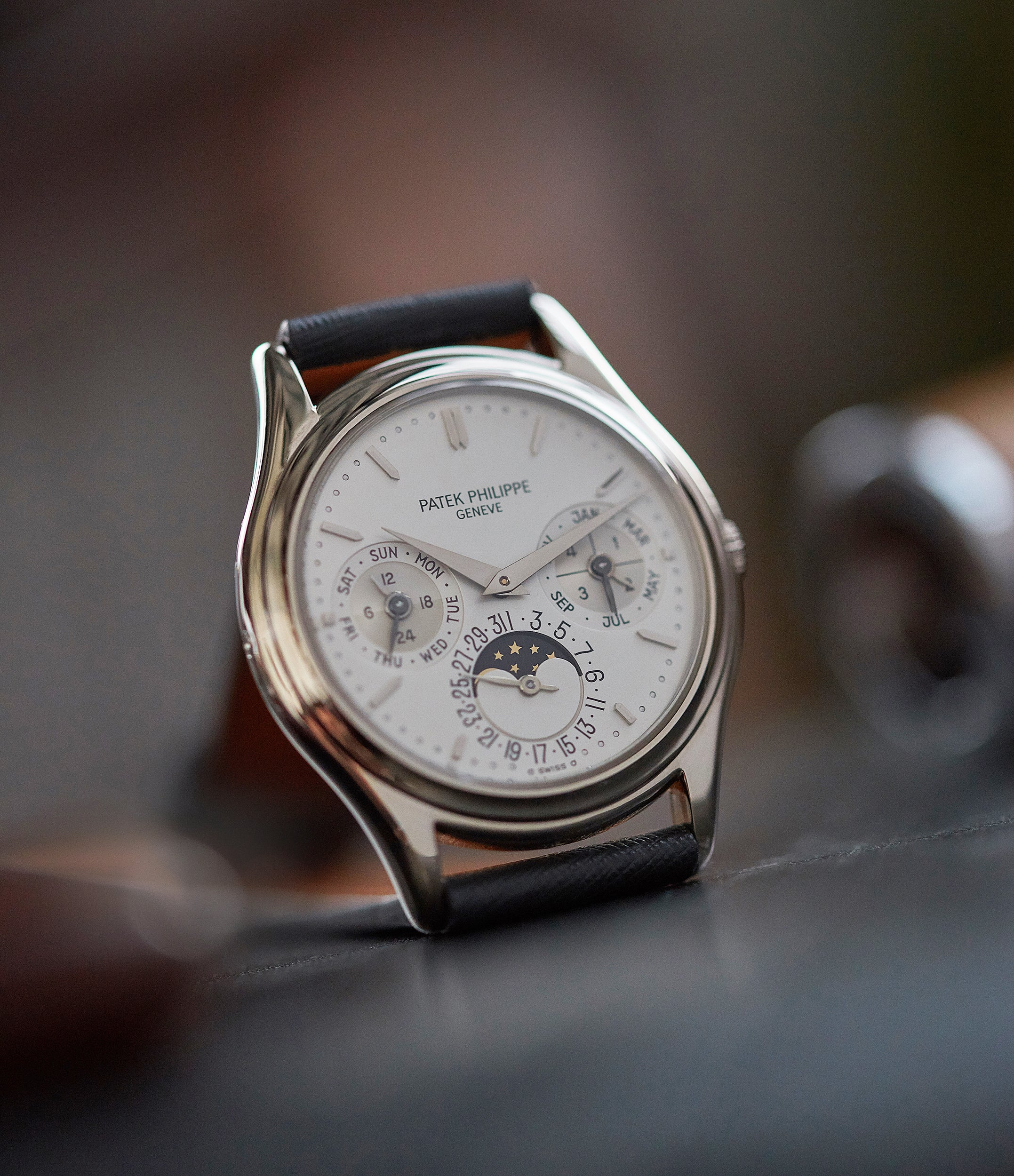buy vintage Patek Philippe 3940G Perpetual Calendar vintage rare watch English dial for sale online at A Collected Man London UK specialist of rare watches