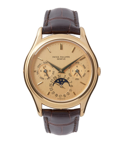 buy vintage Patek Philippe 3940J perpetual calendar full set dress watch for sale online at A Collected Man London UK specialist of rare watches