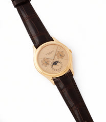 sell vintage Patek Philippe 3940J perpetual calendar full set dress watch for sale online at A Collected Man London UK specialist of rare watches