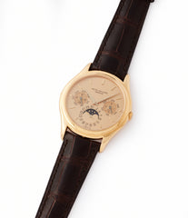 shop vintage Patek Philippe 3940J perpetual calendar full set dress watch for sale online at A Collected Man London UK specialist of rare watches