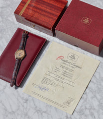 full set box papers archive extract vintage Patek Philippe 3940J perpetual calendar dress watch for sale online at A Collected Man London UK specialist of rare watches