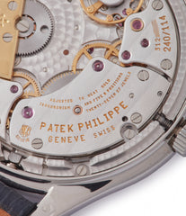 movement Patek Philippe 3940P platinum perpetual calendar rare dress watch full set for sale online at A Collected Man London UK specialist of rare watches