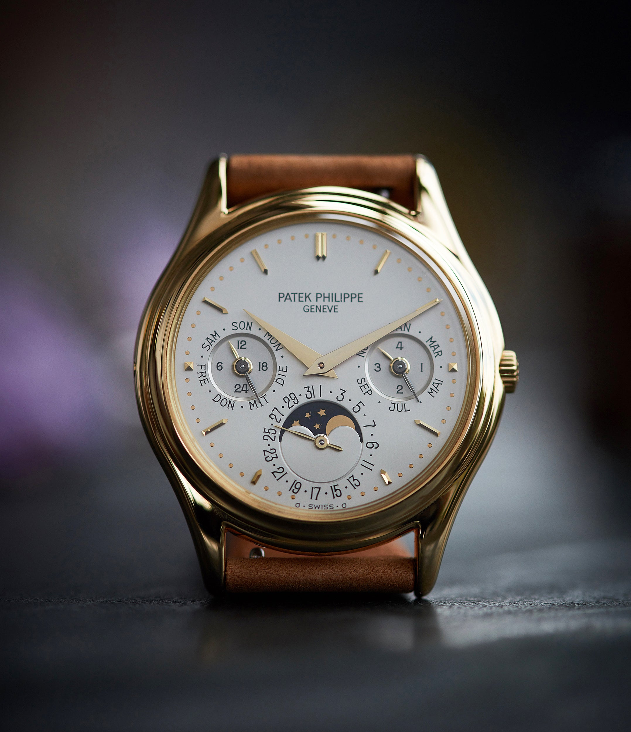 Patek Philippe 3940J first series yellow gold perpetual calendar dress watch for sale online at A Collected Man London