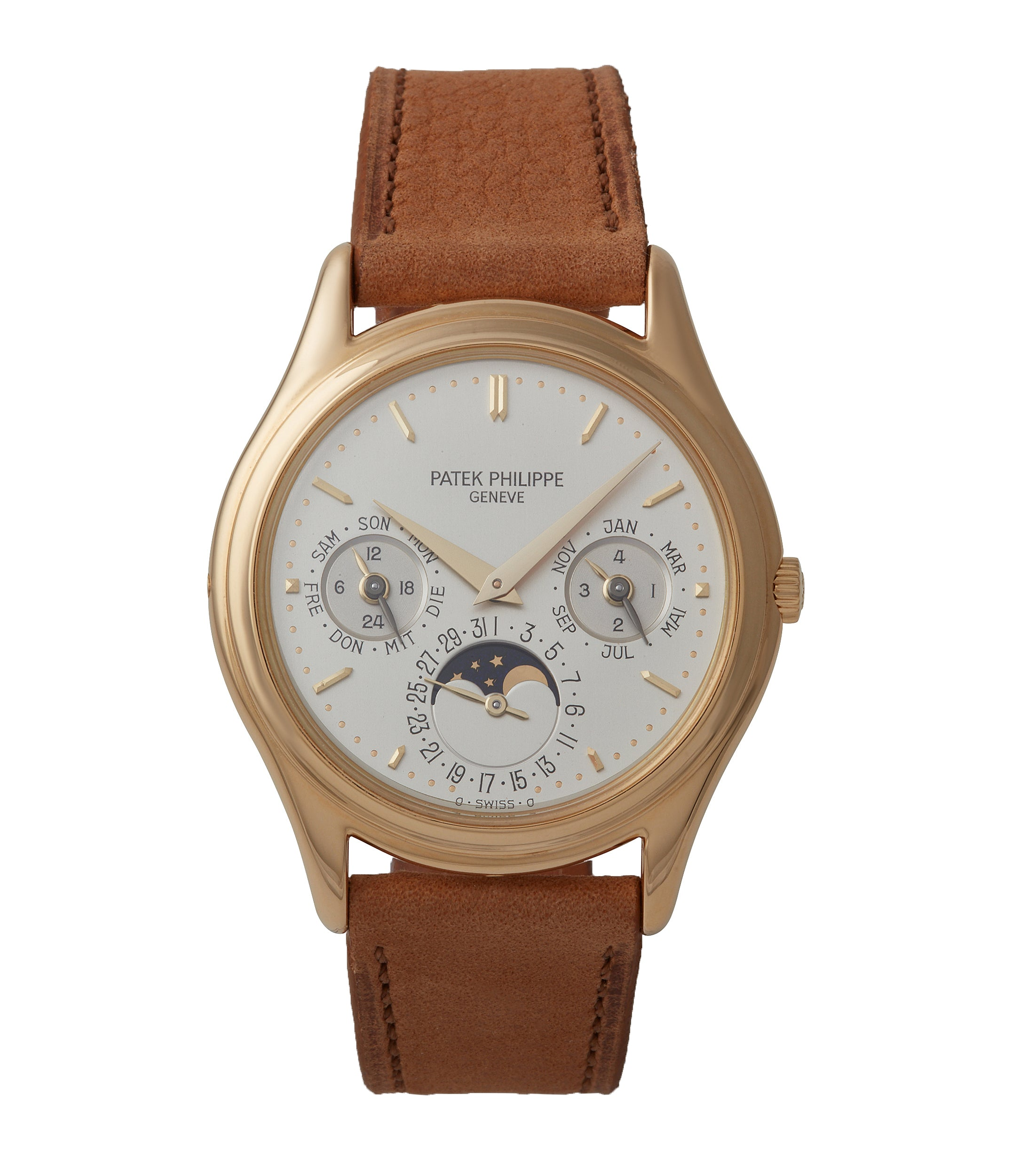 buy Patek Philippe 3940J first series yellow gold perpetual calendar dress watch for sale online at A Collected Man London