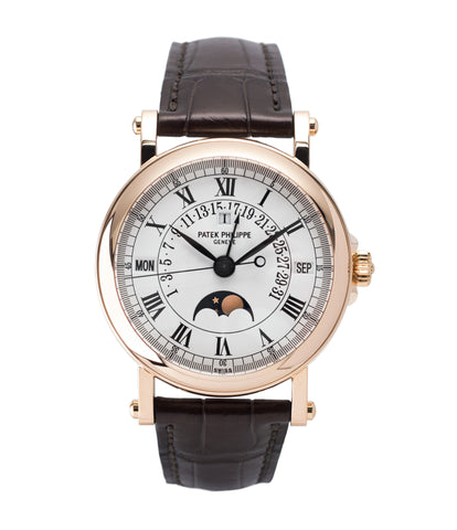 buy preowned Patek Philippe 5059R Perpetual Retrograde Calendar rose gold dress watch online at A Collected Man London UK retailer of rare preowned watches