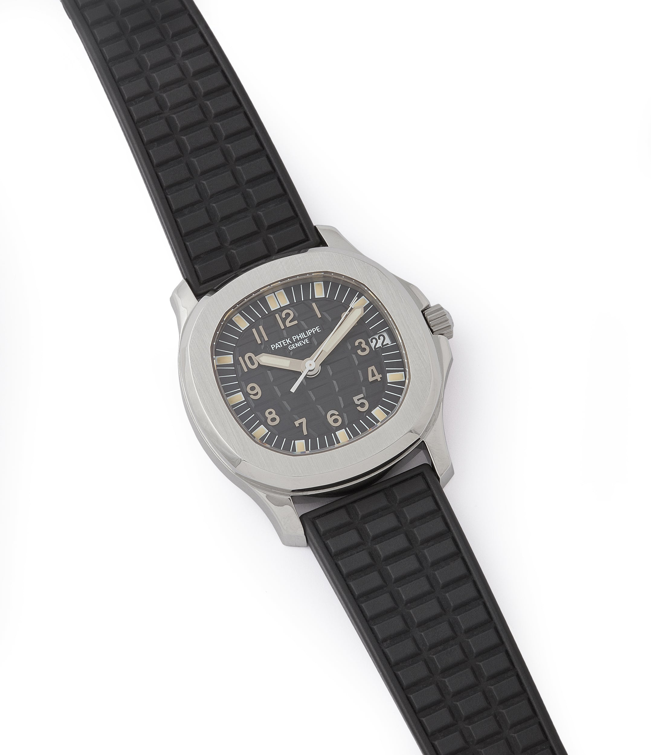 buy preowned Patek Philippe Aquanaut 5066A-001 steel sport watch rubber strap for sale online at A Colleted Man London UK specialist of rare watches