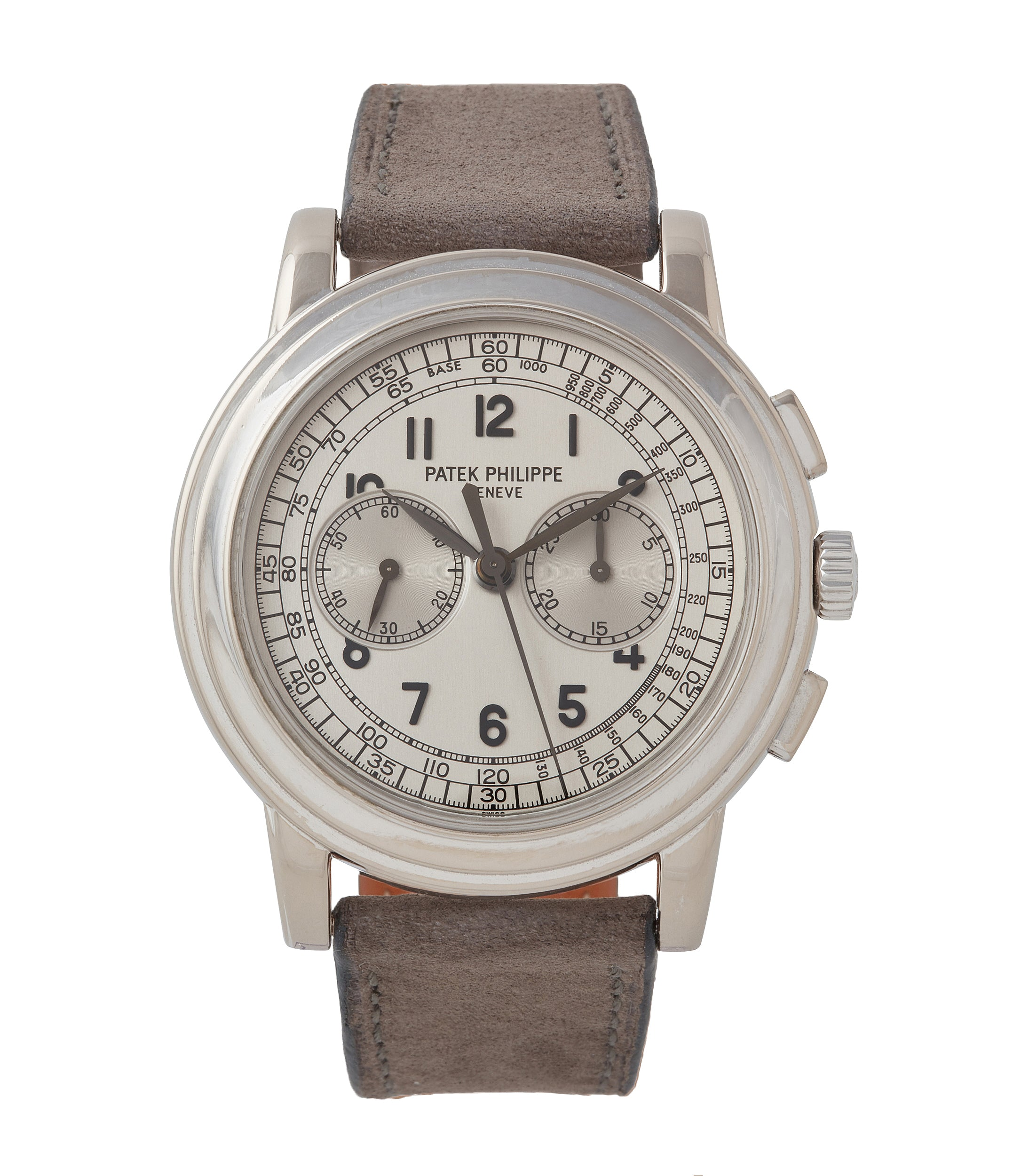 buy Patek Philippe 5070 Chronograph white gold dress watch for sale online at A Collected Man London UK specialist of rare watches
