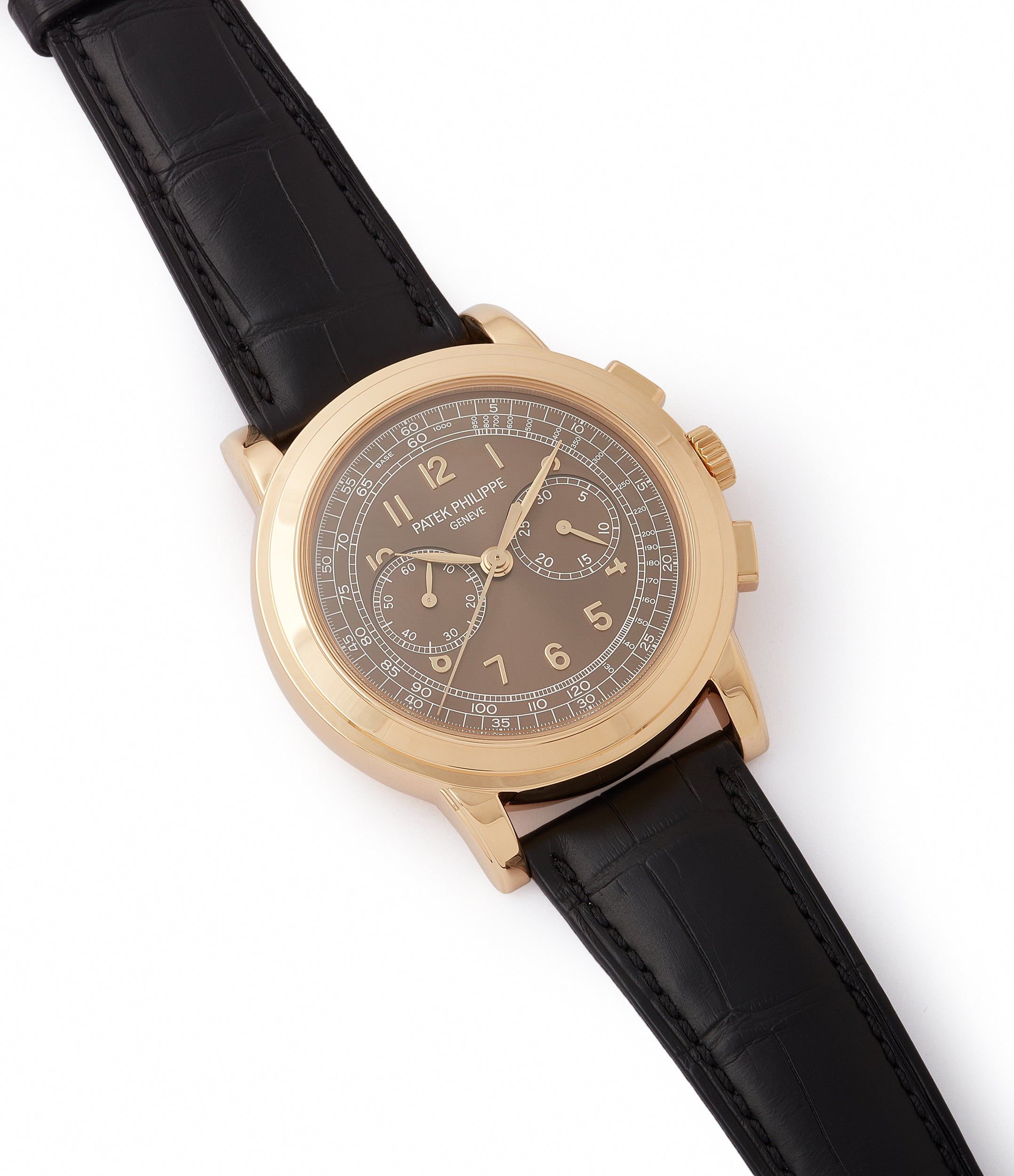 selling pre-owned Patek Philippe 5070J-012 Saatchi Edition Chronograph yellow gold watch for sale online at A Collected Man London UK specialist of rare watches