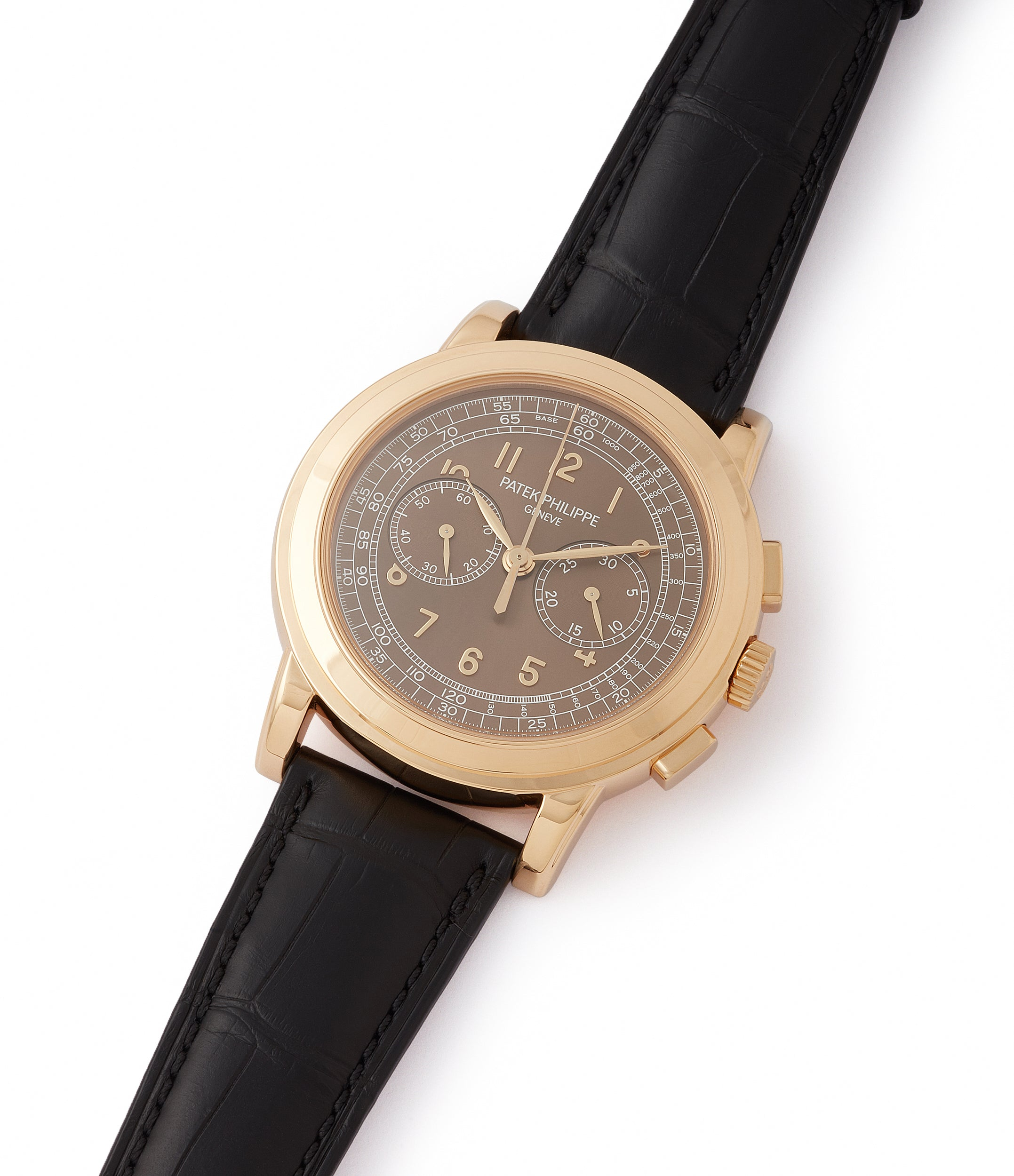 shop Patek Philippe 5070J-012 Saatchi Edition Chronograph yellow gold watch for sale online at A Collected Man London UK specialist of rare watches