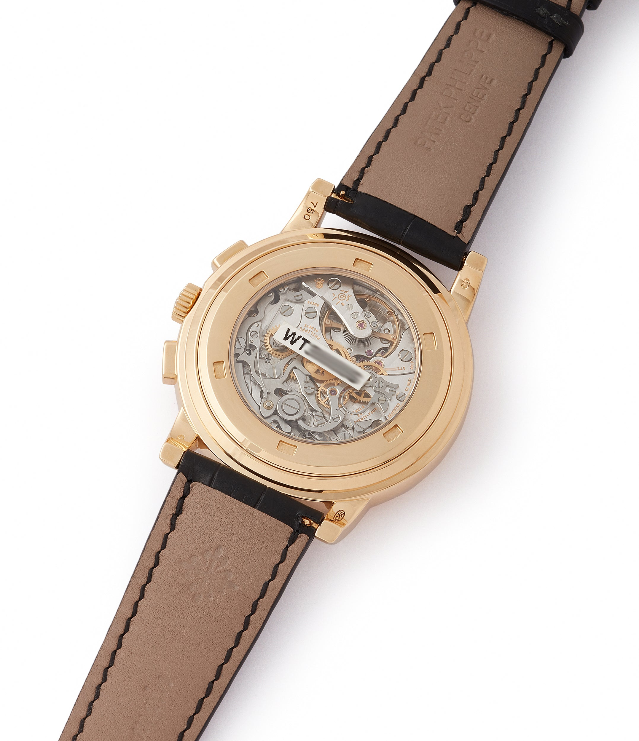 calibre CH 27-70 Patek Philippe 5070J-012 Saatchi Edition Chronograph brown dial yellow gold watch for sale online at A Collected Man London UK specialist of rare watches