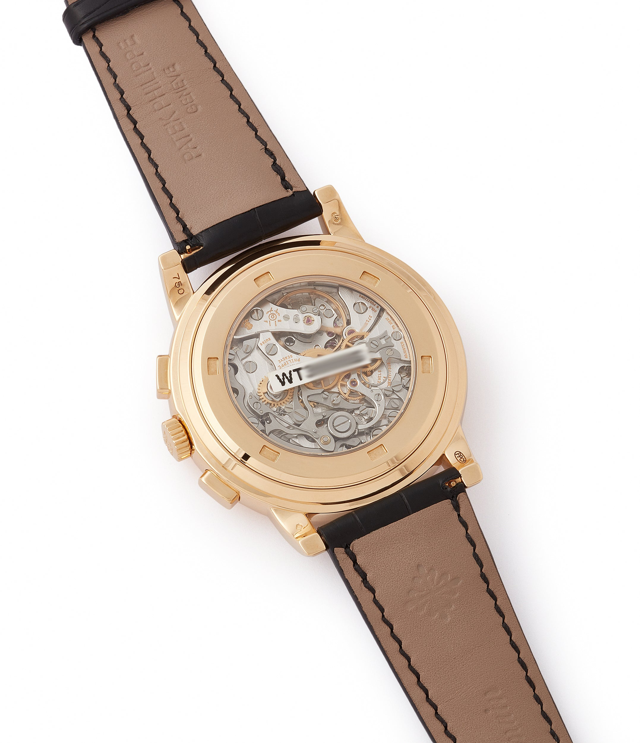 CH 27-70 manual-winding Patek Philippe 5070J-012 Saatchi Edition Chronograph brown dial yellow gold watch for sale online at A Collected Man London UK specialist of rare watches