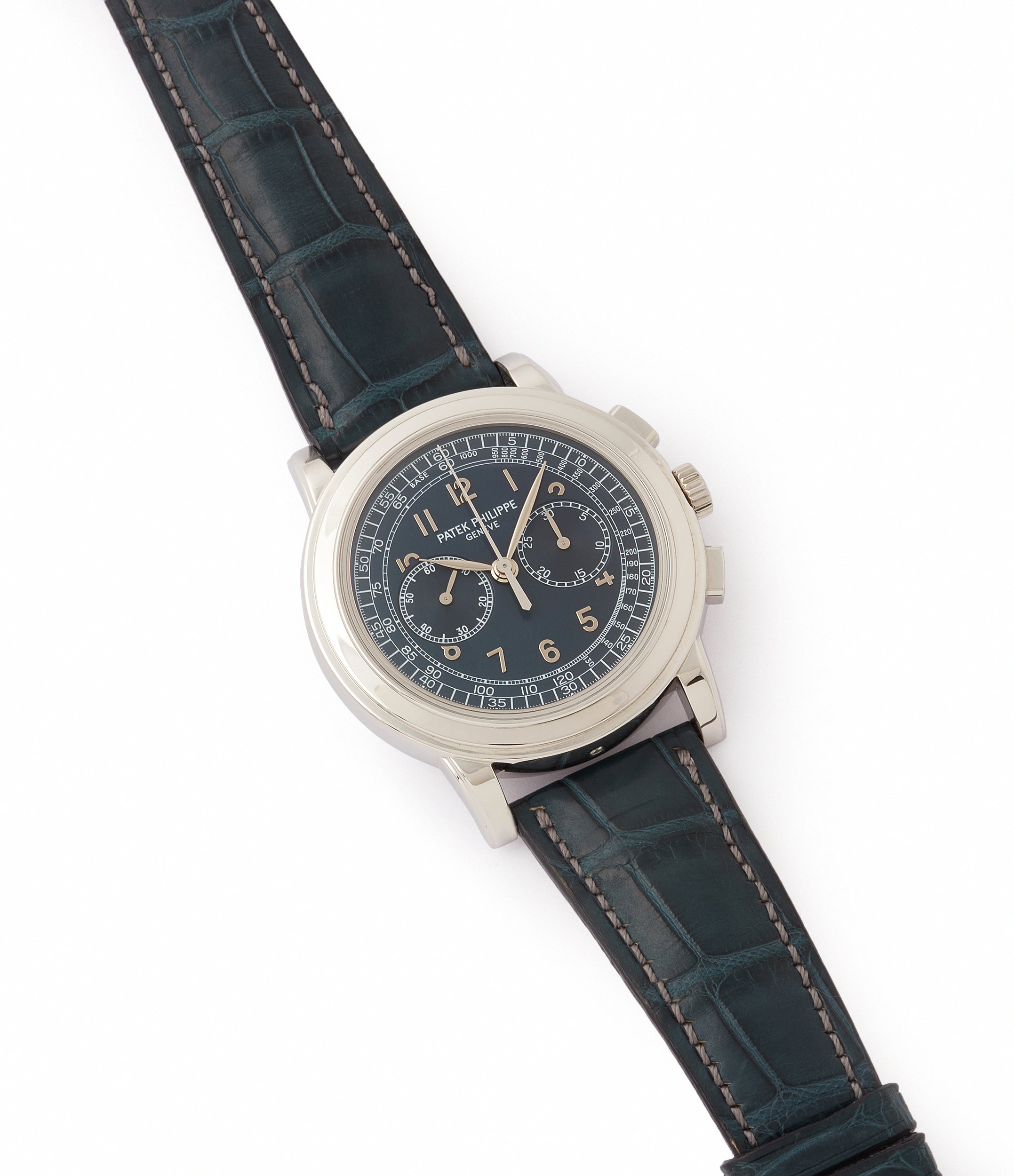 selling preowned Patek Philippe 5070P Chronograph rare platinum 42mm luxury watch for sale online at A Collected Man London UK specialist of rare watches