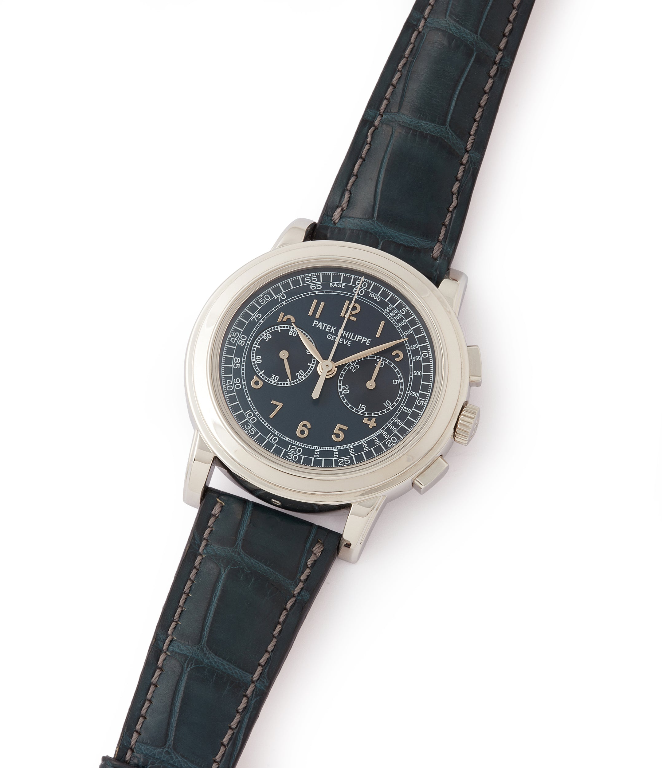 sell rare Patek Philippe 5070P Chronograph rare platinum 42mm luxury watch for sale online at A Collected Man London UK specialist of rare watches