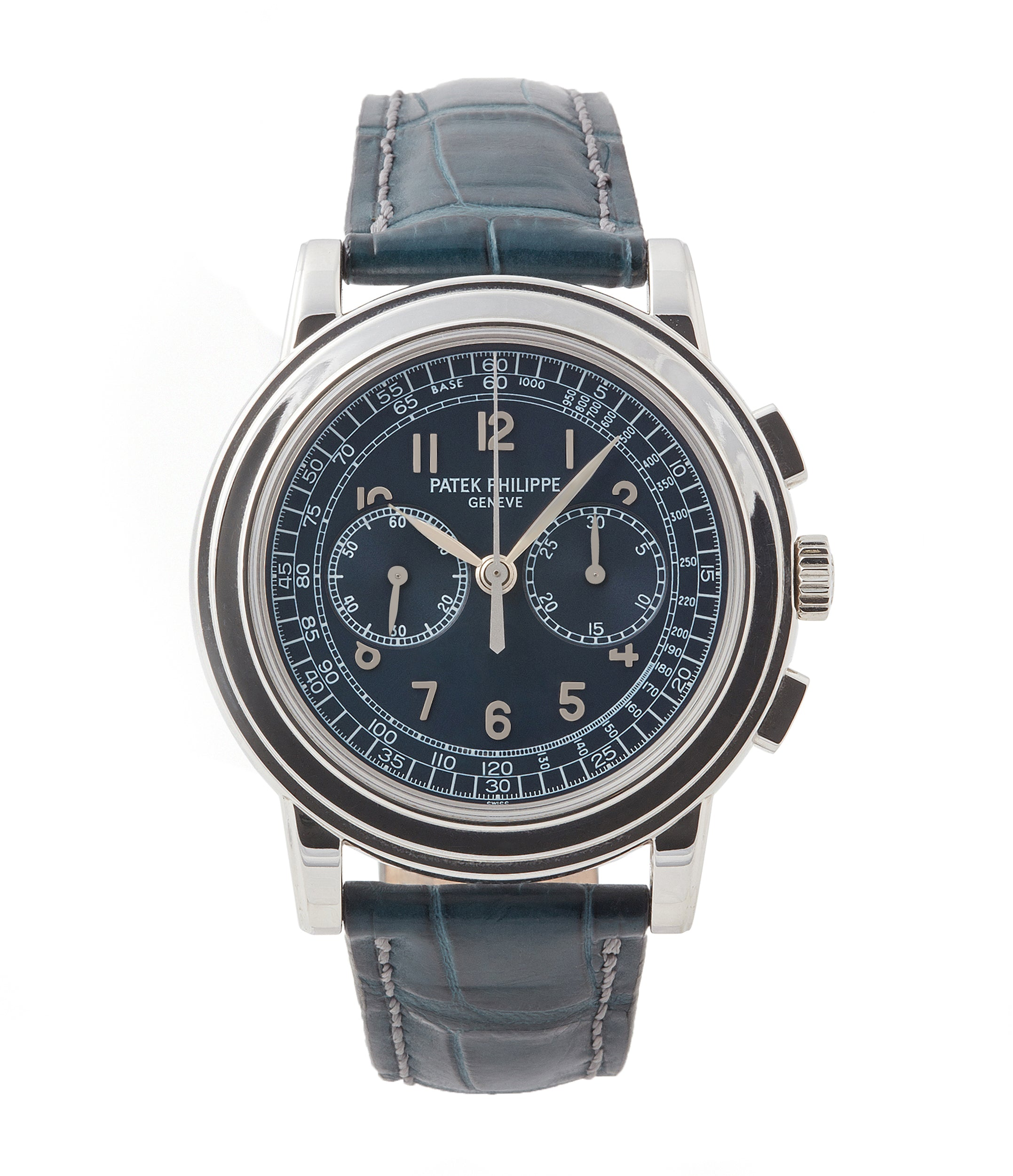 buy Patek Philippe 5070P Chronograph rare platinum 42mm luxury watch for sale online at A Collected Man London UK specialist of rare watches