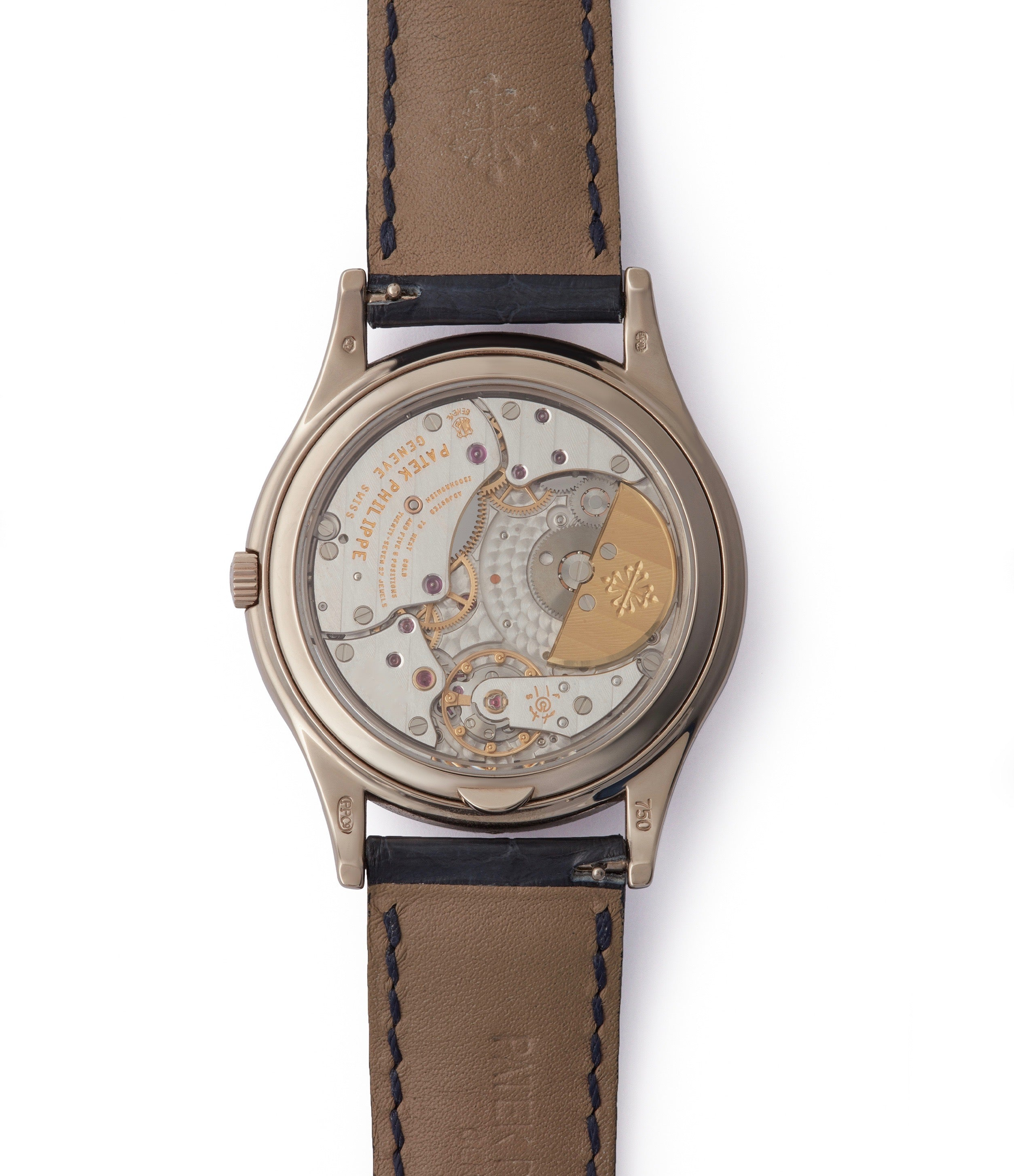 automatic Patek Philippe Perpetual Calendar 5140G moonphase white gold silver dial pre-owned dress watch for sale online A Collected Man London UK specialist rare watches