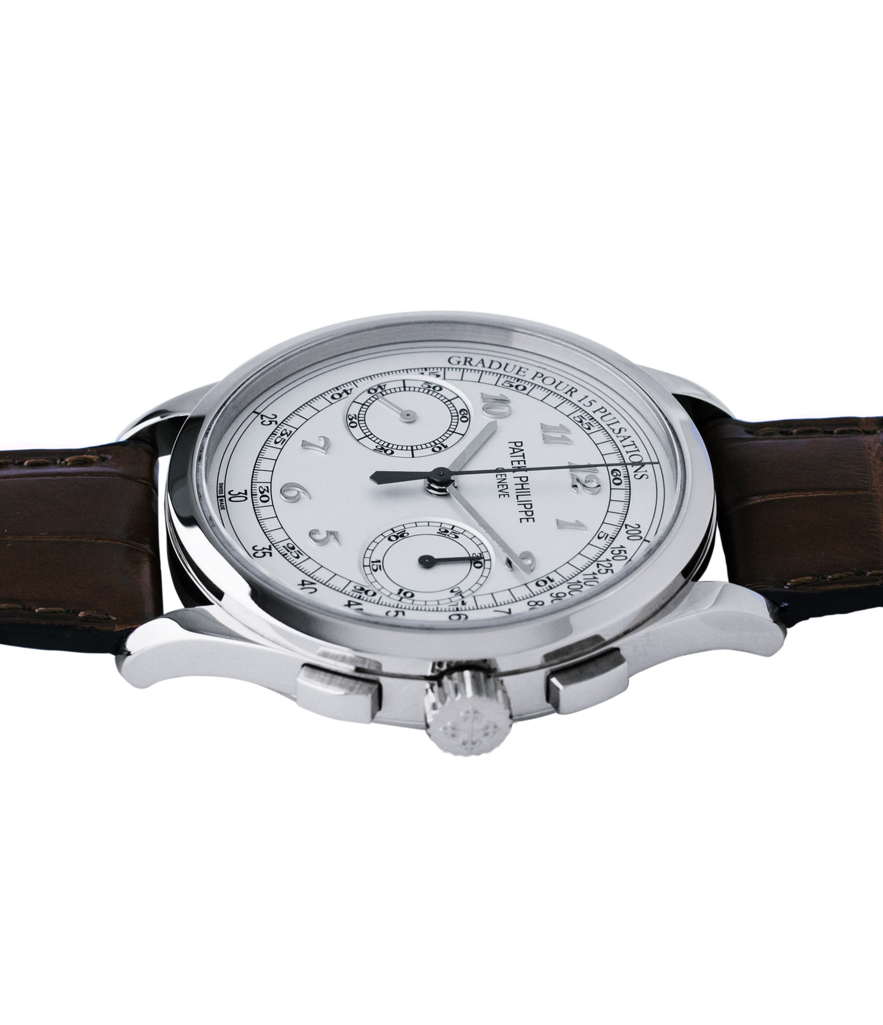 for sale Patek Philippe 5170 grey gold dress Chronograph Pulsation Scale preowned watch at A Collected Man London rare watch specialist in United Kingdom