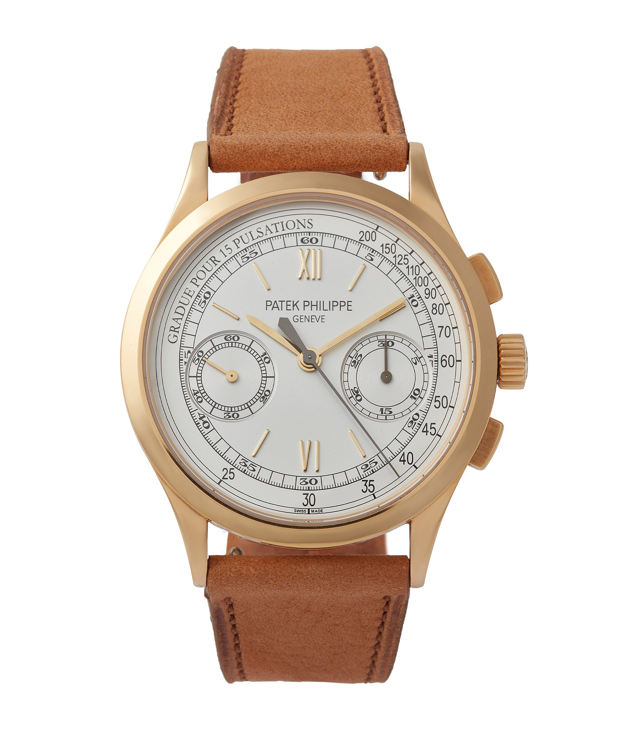 buy Patek Philippe 5170J-001 Chronograph yellow gold dress pre-owned watch for sale online at A Collected Man London UK specialist of rare watches