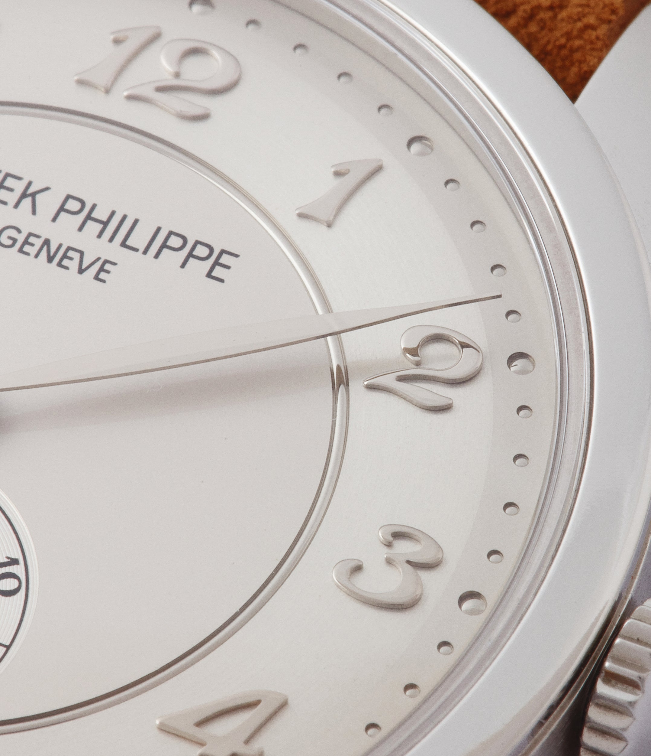 silver dial Breguet numeral Patek Philippe 5196P Calatrava time-only platinum men's dress watch for sale online at A Collected Man London UK specialist of rare watches