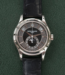 for sale Patek Philippe Annual Calendar Moonphase 5205G-010 white gold watch online at A Collected Man London specialist retailer of rare watches UK